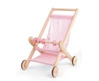 PINTOY Drewniany wózek spacerowy dla lalek