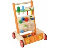 I'M TOY Drewniany chodzik pchacz i wózek narzędziowy