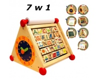I'M TOY Drewniane centrum aktywności 7w1 z ruchomym alfabetem i liczydłem