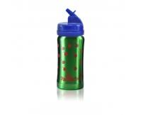 PACIFICBABY Bidon termiczny zielony 200ml z niebieskim ustnikiem składanym