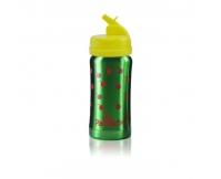 PACIFICBABY Bidon termiczny zielony 200ml z żółtym ustnikiem składanym