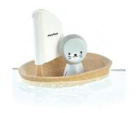 PLAN TOYS Żaglówka z foczką - zabawka do kąpieli