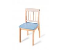 PINTOY Drewniane krzesełko Junior - niebieskie