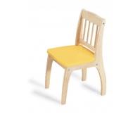 PINTOY Drewniane krzesełko Junior - żółte