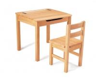 PINTOY Drewniane Biurko z krzesełkiem