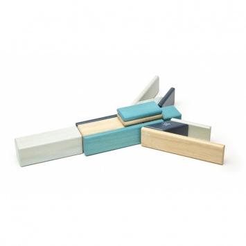 TEGU Drewniane klocki magnetyczne zestaw 14 elementów BLUES