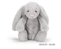 JELLYCAT Szary króliczek Bashful Bunny (średni 31 cm)