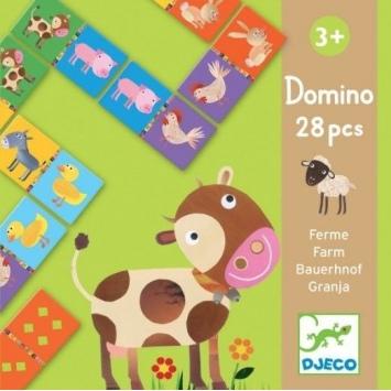DJECO Domino Zwierzątka Farma