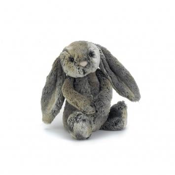 JELLYCAT Szarobury króliczek Bashful Bunny (średni)
