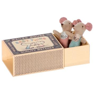 MAILEG Myszki w pudełeczku Bliźniaki - siostra i brat