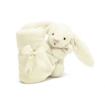 """JELLYCAT Kremowy kocyk z przytulanką """"Bashful Bunny"""""""