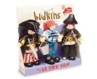 LE TOY VAN Figurki piratów Sammy, Jakub oraz chłopiec pokładowy