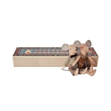 MAILEG Myszki w pudełku po zapałkach- babcia i dziadek