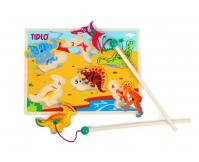 """TIDLO Drewniane puzzle magnetyczne """"Dinozaury"""""""