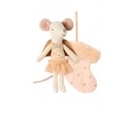 MAILEG Myszka - Aniołek w pudrowej skarpecie