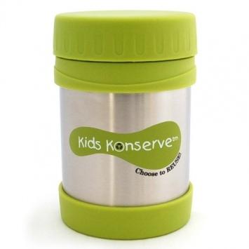 KIDS KONSERVE Pojemnik na żywność z termoizolacją - zielony