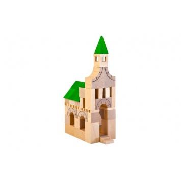 VARIS TOYS Drewniane klocki Architekt - 63 elementy