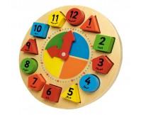 TIDLO Drewniany zegar edukacyjny