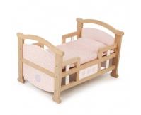 TIDLO Drewniane łóżeczko dla lalek - 2 w 1