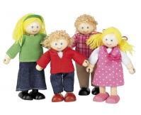 TIDLO Drewniane lalki - czteroosobowa rodzinka