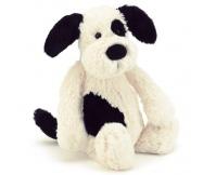JELLYCAT Piesek Bashful Black and Cream Puppy (średni 31 cm)