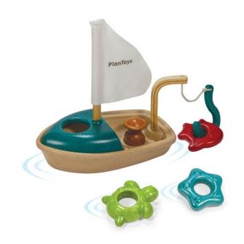 PLAN TOYS Drewniana łódka do kąpieli