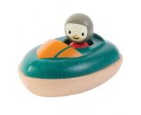 PLAN TOYS Drewniana motorówka, zabawka do kąpieli