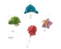 PLAN TOYS Zwierzątka morskie, drewniane zabawki do kąpieli