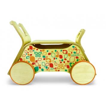 WEEROL 3w1 Drewniany wózek, jeździk i taczka - Summer