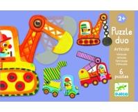 DJECO Puzzle Duo Pojazdy