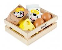 TIDLO Drewniany zestaw - Jaja i nabiał