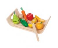 PLAN TOYS Owoce i warzywa na tacy