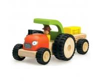 WONDERWORLD Drewniany Mini Traktor