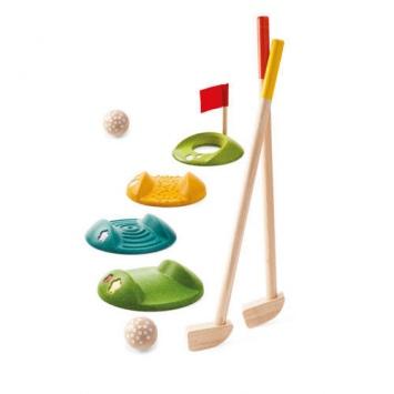 PLAN TOYS Drewniany mini golf - duży zestaw