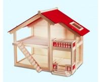 PINTOY Drewniany domek dla lalek