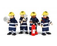 TIDLO Drewniane figurki strażaków - 4 szt