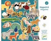 DJECO Drewniane magnesy ze zwierzątkami Magnimo