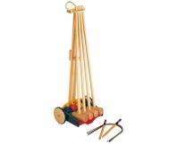 PINTOY Krokiet drewniany - zestaw dla 4 graczy