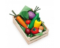 ERZI Warzywa w skrzynce - drewniany zestaw