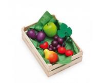 ERZI Owoce w skrzynce - drewniany zestaw