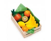 ERZI Owoce południowe w skrzynce - drewniany zestaw
