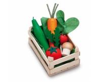 ERZI Warzywa w skrzyneczce - drewniany zestaw