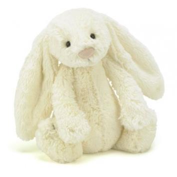 JELLYCAT Kremowy króliczek Bashful Bunny (średni)