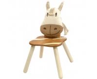 I'M TOY Drewniane krzesełko dziecięce Osiołek