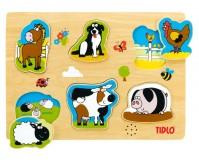 """TIDLO Puzzle dźwiękowe """"Zwierzęta na farmie"""""""