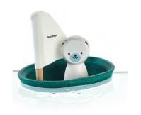PLAN TOYS Żaglówka z misiem polarnym - zabawka do kąpieli