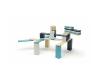 TEGU Drewniane klocki magnetyczne zestaw 24 elementy BLUES
