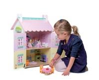LE TOY VAN Drewniany domek dla lalek z akcesoriami - Jolie Sweetheart Cottage with Furniture