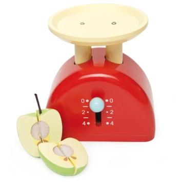 LE TOY VAN Drewniana waga kuchenna z jabłkiem