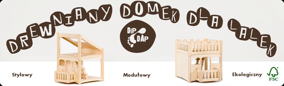 Drewniany domek dla lalek Dip Dap